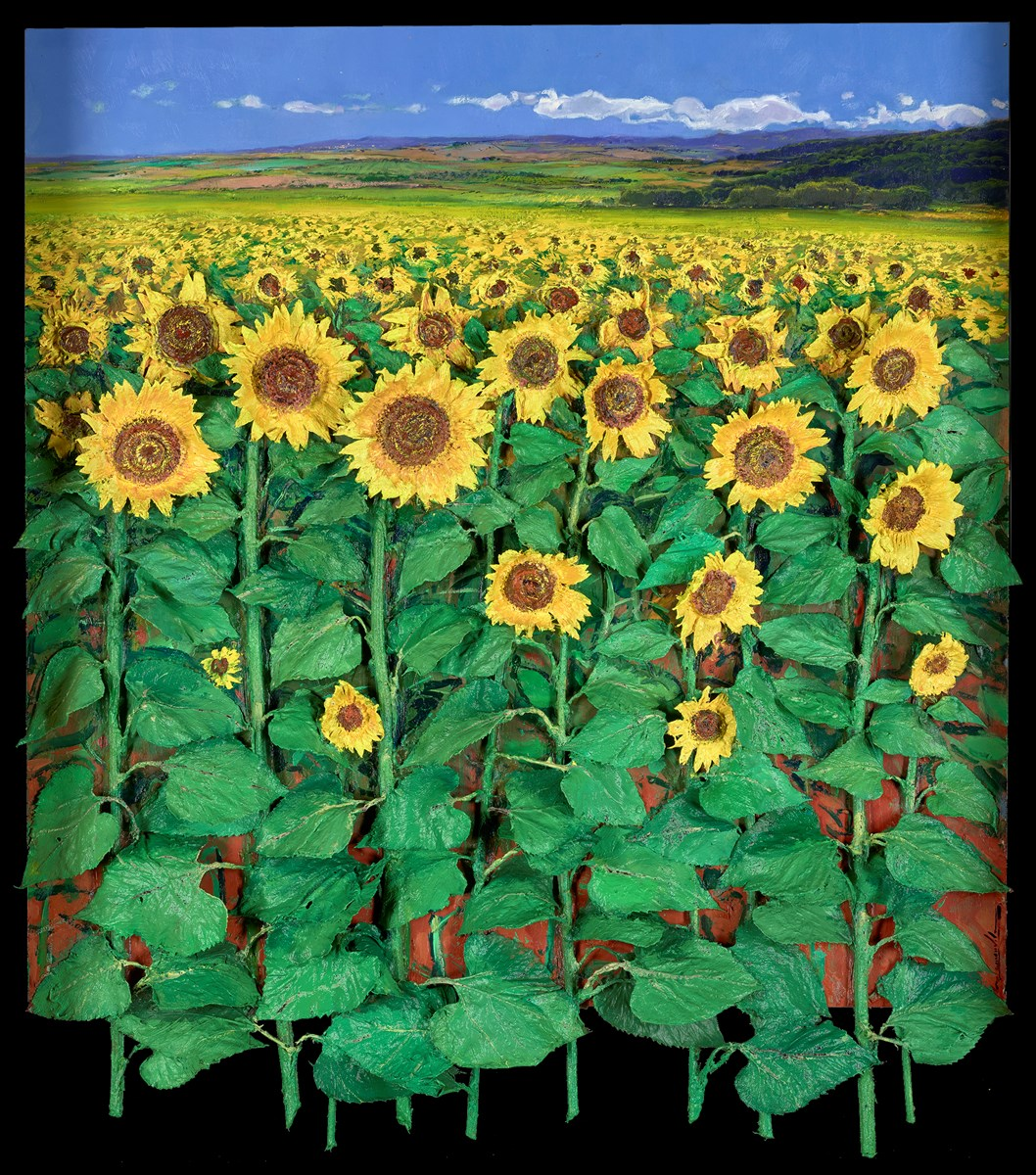 Campo Girasole by ramon vila -  sized 35x39 inches. Available from Whitewall Galleries